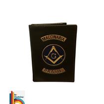 Carteira Porta Funcional Maçonaria (brasão Azul)
