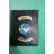 Carteira (porta Notas) Couro Polícia Da Aeronáutica ( F A B)