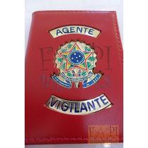 Carteira Agente Vigilante Brasão - Temos Escolta Segurança