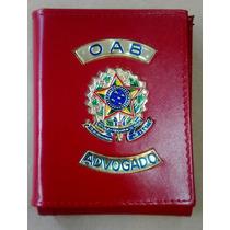 Carteira Porta Funcional Cheques Notas Oab Advogado-vermelha