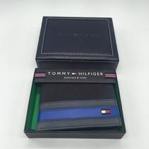 Carteira Tommy Hilfiger Couro Tecido Texturizado - Novo