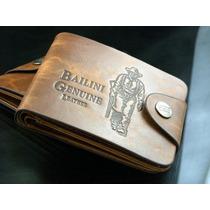 Carteira Bailini Genuine Leather/couro Frete Grátis