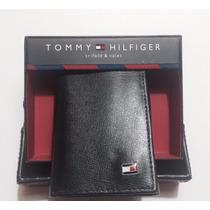Carteira Tommy Hilfiger Trifold Couro Legitimo Original!