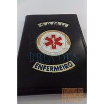Brasão Samu Enfermeiro Porta Funcional Tipo Distintivo P146p