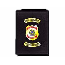 Carteira Funcional Da Polícia Federal - Imigração Em Couro