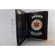 Porta Funcional Distintivo Samu Enfermeiro Frete Gráti P146p