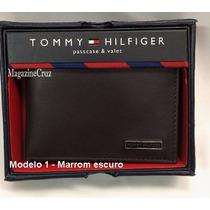 Carteira Masculina Tommy Hilfiger Couro - 100% Original