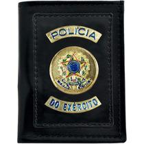Carteira Couro Sintético Policia E.b Loja Dos Camuflados
