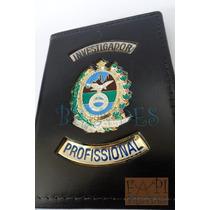 Carteira Investigador Profissional Brasão Rj Detetive P71p