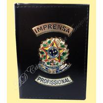 Carteira Porta Notas Imprensa Profissional Ou Distintivo