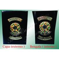 Porta Funcional Ou Distintivo Agente De Segurança Em Couro