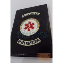 Brasão Samu Enfermeira Porta Funcional Tipo Distintivo P145p
