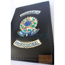 Carteira Porta Funcional Agente Segurança Profissional P123p
