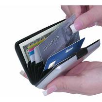 Carteira Masculina Porta Cartões De Visita Credito - Prata