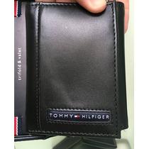 Carteira Tommy Hilfiger Couro Original Trifold C Caixa Linda