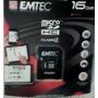Micro Sd Emtec, Lacrado, Com Adaptador, 16gb, 60x