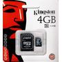 Micro Sd Kingston 4gb + Adptador