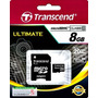Cartao De Memoria Flash Micro Sdhc Transcend 8gb Class 10
