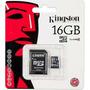 Cartão De Memória Micro Sd 16gb Kingston Ou Sandisk Lacrado