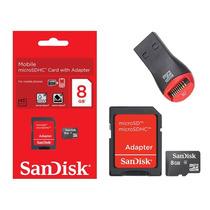 Cartão Memória Micro Sd Sdhc 8gb Sandisk Frete Grátis Leitor