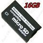 Cartão Memory Stick Pro Duo 16gb Psp - Adaptador Memory Stic
