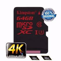 Kingston Micro Sdxc Sd Class10 90mb/s 64gb Ultrahd 4k Me01