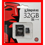 Micro Sd 32 Gb Kingston 100 % Original 32 Gb