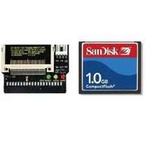 Cartão Memória Compact Flash Sandisk Cf 1gb + Adaptador Ide