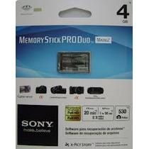 Cartao De Memoria Sony Pro Duo 4gb 100% Original Lacrado