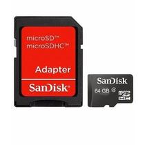 Cartão De Memória Micro Sd Sandisk 64gb +leitor+frete Grátis