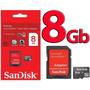 Cartão De Memória Micro Sd 8gb - Sandisk C/ Adaptador