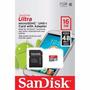 Memória Micro Sd-hc Ultra Sandisk 16gb 48mbs 2x1 Class10