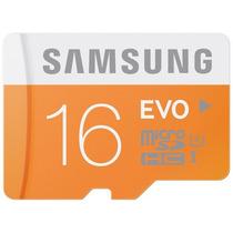 Cartão Micro Sd Sdhc Samsung Evo 16gb Class 10 48mb/s Uhs-1