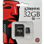 Cartão De Memória Kingston 32gb Micro Sd C/ Adaptador