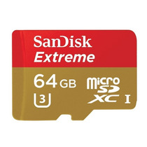 Cartão Micro Sd Sdxc Sandisk Extreme 64gb Cl10 60mb/s Uhs-3
