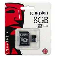 Cartão De Memória Micro Sd 8gb Kingston Original + Adaptador