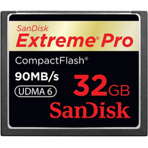 Cartão Sandisk Extreme Pro Cf 32gb Vídeo Full Hd 90mb/s