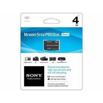 Cartao De Memoria Pro Duo Sony 4gb Original Lacrado