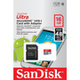 Cartão De Memória Sandisk Microsdhc 16gb Class 10 C/ Adaptad