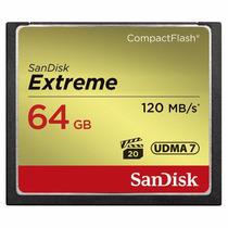Cartão Compact Flash Cf 64gb Sandisk Extreme 120mb/s 800x