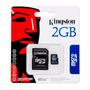 Cartão De Memória 2gb Micro Sd+adaptador Kingston 10unidades