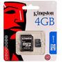Cartao De Memoria Sd Kingston Sd 4gb ( Micro + Adaptador ) ¿