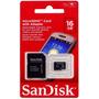 Micro Sd Sandisk 16gb, Cartão De Memoria