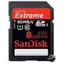 Cartão Memória Sdhc 8gb Sandisk Extreme 80mb/s Uhs-1 Sd