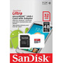 Cartão Micro Sd 32gb Ultra Classe 10 + Adaptador Sd Sandisk
