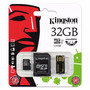 Kit Cartão Micro Sdhc 32 Gb Kingston C/ Adaptador/leitor Usb