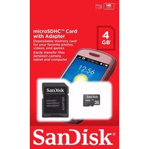 Kit 10 Cartão De Memória Micro Sd 4gb Sandisk Lacrado Orig
