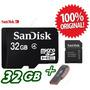 Cartão Memória Micro Sd Sdhc 32gb Sandisk Lacrado + Leitor