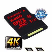 Cartão Micro Sd Sdxc Kingston 64gb C10 90mb/s Uhs-3 Original