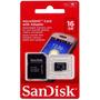 Cartão De Memória Micro Sd+adaptador Sandisk 16g-classe 4